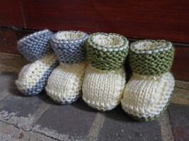 Laurel Baby Booties